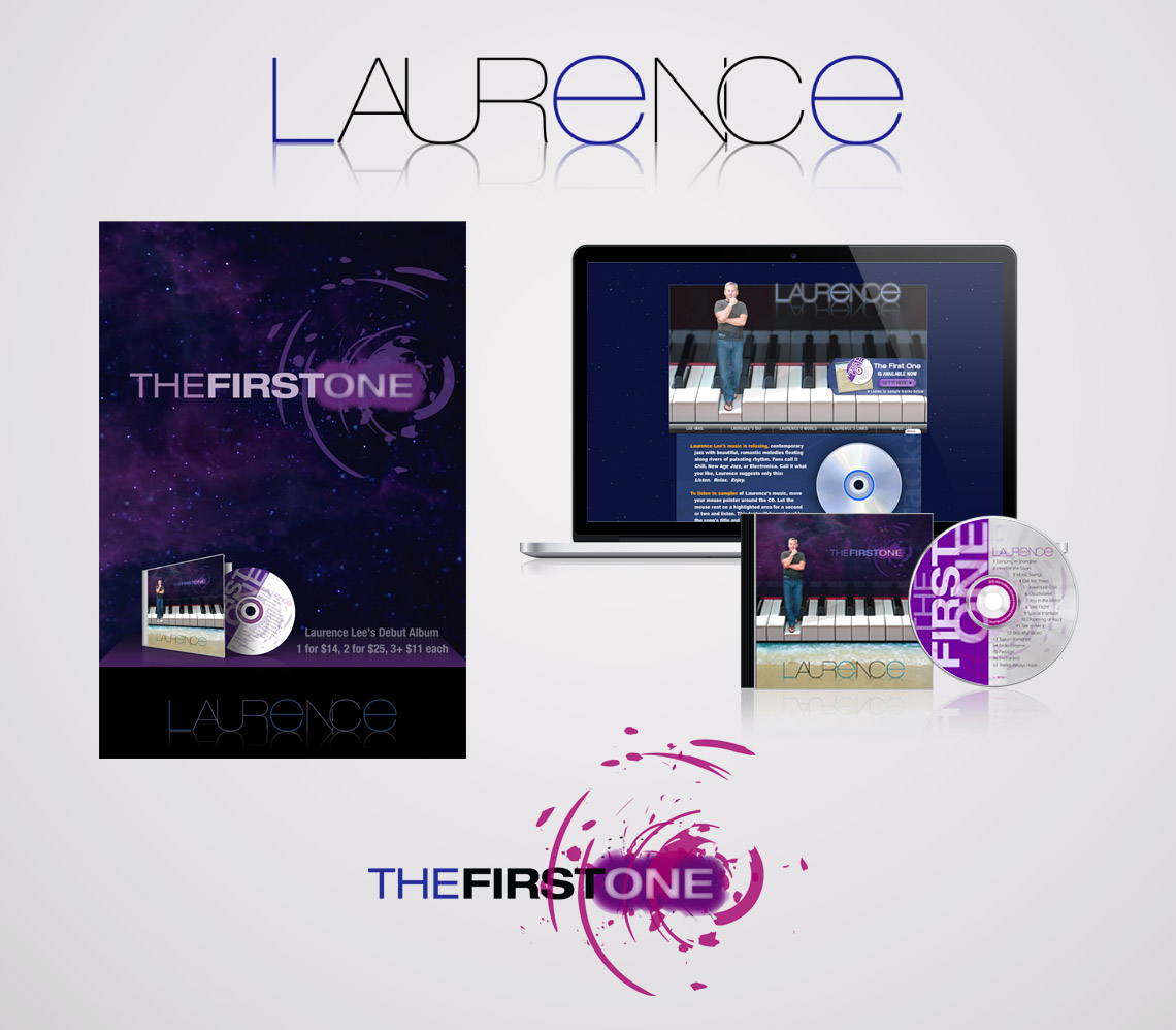 Logo and Responsive Web Site for Musician Laurence Lee
