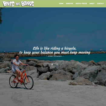 Web site Design for Bikes and Boards in Englewood, Florida