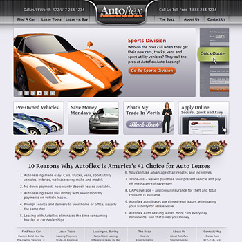 Website Design for Autoflex Auto Leasing