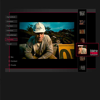 Website Design for Photographer Blaine Fisher