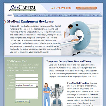 Flex Capital Funding Web Site Design