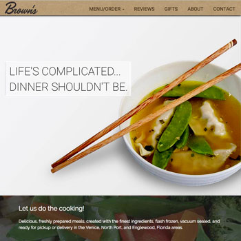 Web site Design for Brown's Meals in Venice, Florida