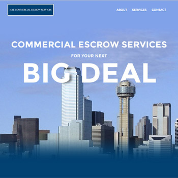 Web Site Design for HAL Commercial Escrow