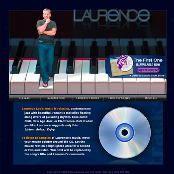 Website Design for Musician Laurence Lee