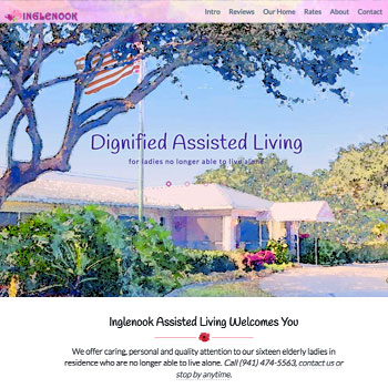 Website Design for Inglenook Assisted Living, Englewood, Florida