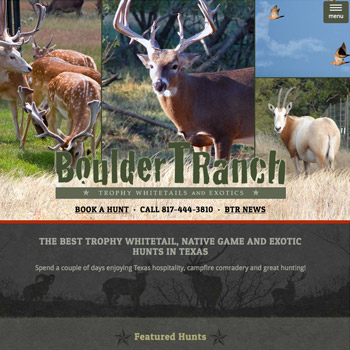 Website Design for Boulder T Ranch