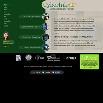 Website Design for CyberlinkASP