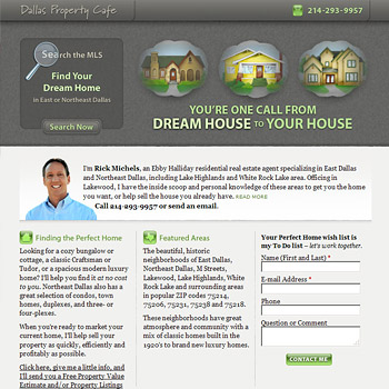 Website Design for Dallas Property Cafe
