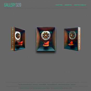 Website Design for Gallery320 - Artist Daniele Jones