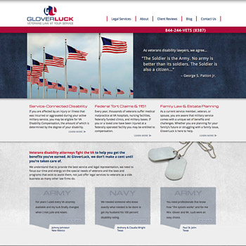Website Design for Glover Luck, Dallas, Texas
