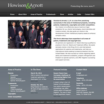 Website Design for Howison & Arnott