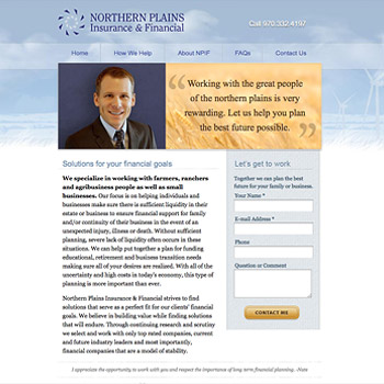 Website Design for Northern Plains Insurance and Finance