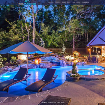 Website Design for Peek Pools, Franklin, Nashville, Tennessee