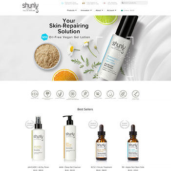 Website Design for Shunly Skincare
